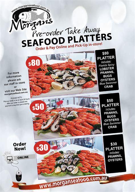 morgans seafood menu order take away seafood platters morgans seafood