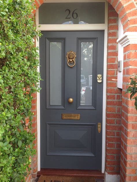 doors and fronts victorian front door in farrow ball s downpipe doors