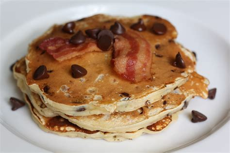float by boat superfood pancakes breakfast for dinner chocolate chip bacon pancakes the