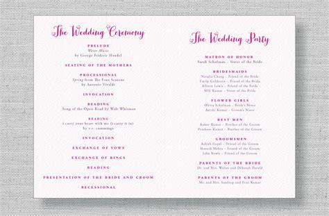 modern wedding program wording www imgkid com the