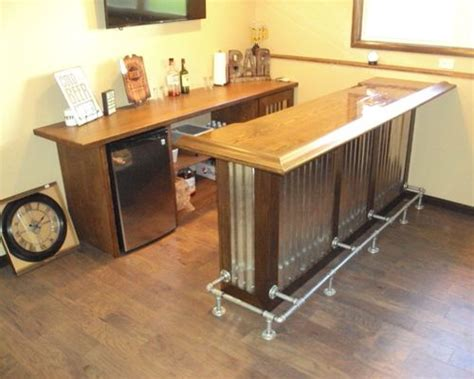 industrial home bar industrial l shaped home bar design ideas renovations