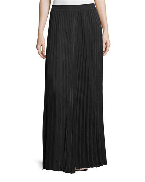 joseph hilde pleated maxi skirt in black lyst