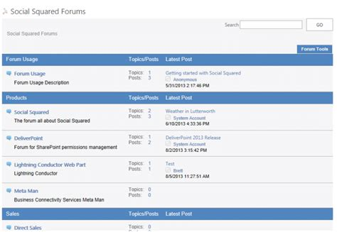 social squared sharepoint discussion forum web part gt gt 25