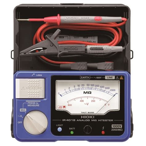 how to test resistor using analog tester hioki ir4018 20 analog insulation resistance tester