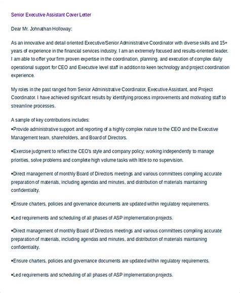 Ceo Personal Assistant Cover Letter by 34 Administrative Assistant Cover Letter Template