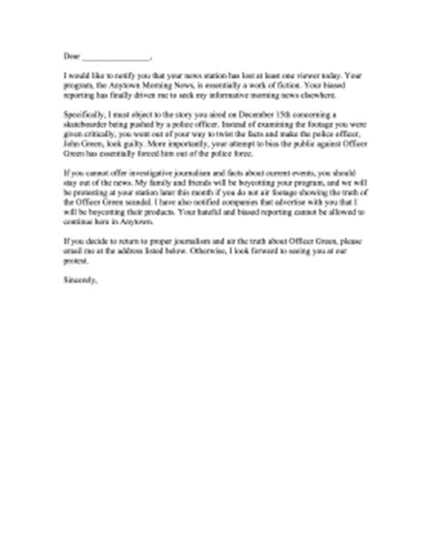 Complaint Letter Format To Station In News Station Complaint Letter
