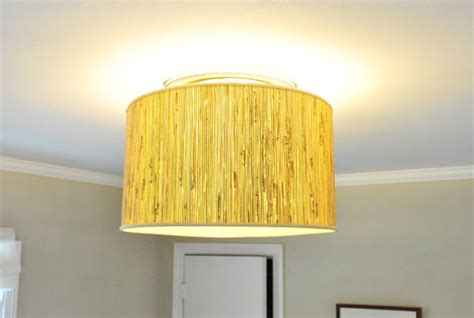Diy Ceiling Light Shade Savvy Housekeeping 187 Diy Oversized L Shade Fixture