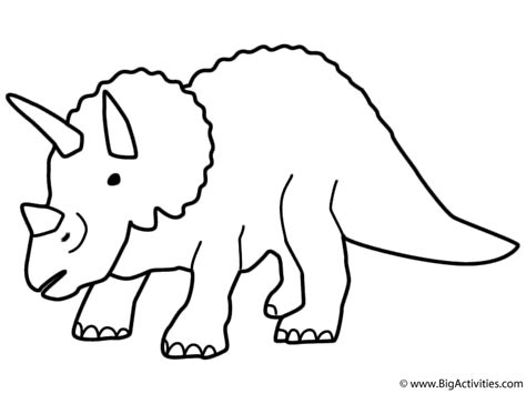 triceratops coloring page birthday