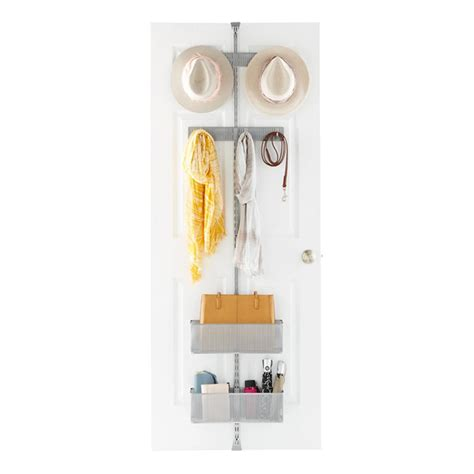 Closet Door Rack Platinum Elfa Utility Closet Door Wall Rack The