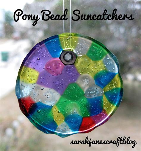 plastic bead suncatchers s craft plastic pony bead suncatchers