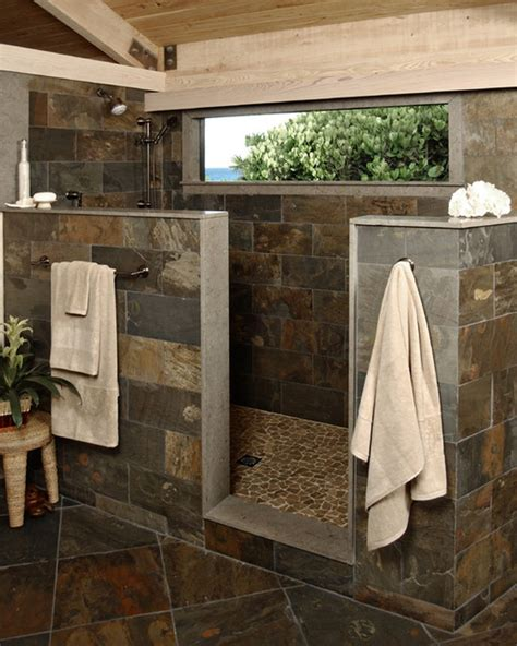 Open Shower Designs Without Doors Open Styled Bathroom Design With Cozy Shower Designs Without Doors Using Grey Tiles Lestnic