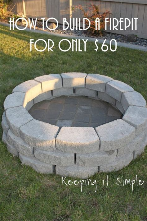Diy Brick Pit Tutorial Pit Design Ideas 11 Excellent Diy Pits Tutorials Diy Tutorial Diy Fireplace Diy Projects For Diy