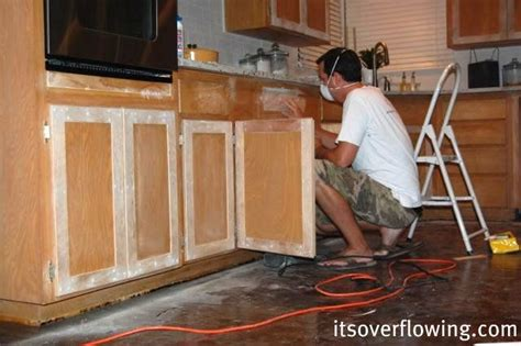 diy cabinet door refacing it s overflowing blog she refaced her kitchen cabinets