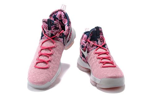 pink kd basketball shoes nike kd 9 basketball shoes flower pink floral white