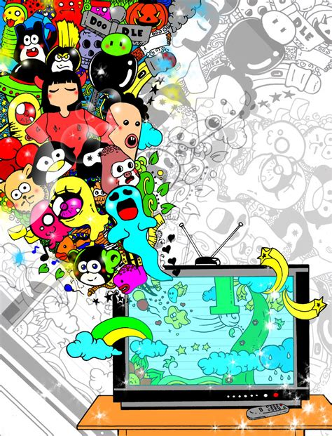 doodle tv doodle tv by vellumbamboo on deviantart