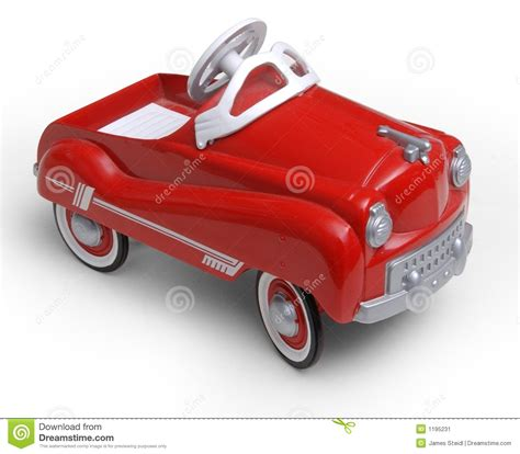 red toy 1950 s era red toy car stock image image 1195231