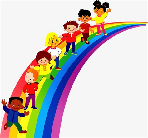 rainbow children the art 1616558334 rainbow children child rainbow play png and vector for free download