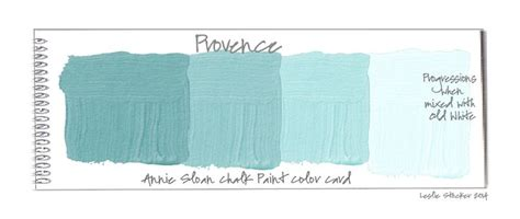color swatch cards of color provence chalk paint 174 by sloan paint