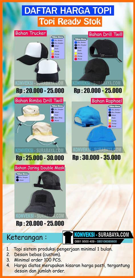 Harga Topi Merk daftar harga topi bordir