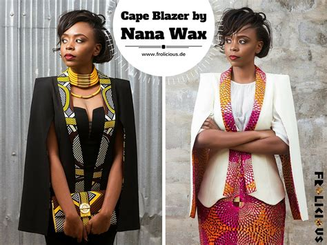 Cape Blazer Collection outstanding cape blazer by nana wax frolicious