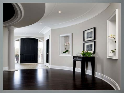 paint colors  dark wood floors  black table