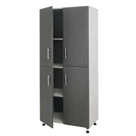 Closetmaid Progarage 4 Door Laminated Storage Cabinet In Home Depot Storage Cabinets With Doors