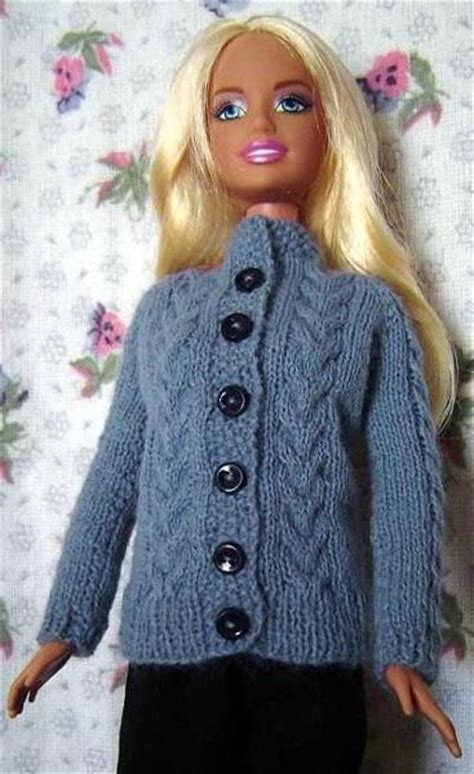knitting pattern barbie clothes pdf knitting pattern for 11 1 2in doll cardigan free