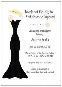 bridal shower tea invitation big hat fascinator
