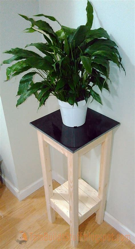 tile top plant stand  easy  affordable  build