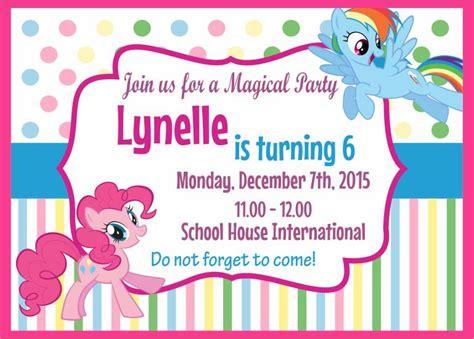 Undangan Ulang Tahun Custom jual undangan ultah pony custom birthday