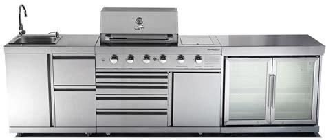 Cabinet Above Fridge Outdoor Kitchen Chefmaster Galley Series 4 Burner Bbq