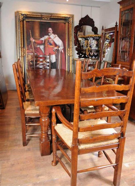 farmhouse and chairs set farmhouse refectory ladderback set dining