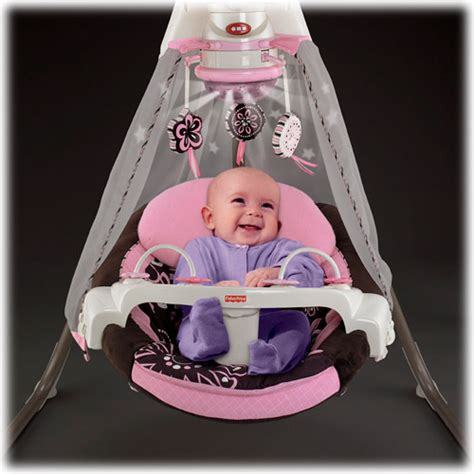 fisher price pink cradle swing fisher price starlight papasan pink mocha cradle swing nib