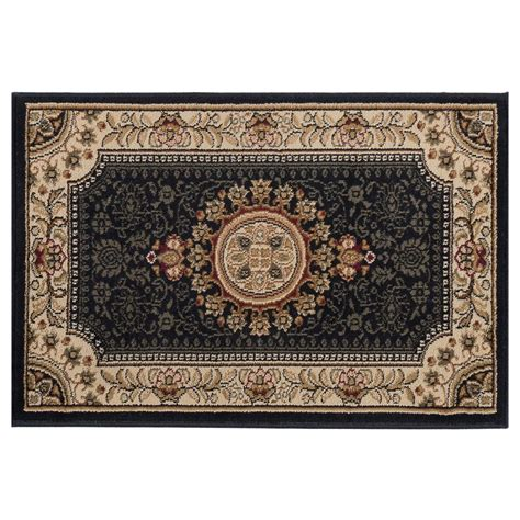 Tayse Rugs Sensation Black 2 Ft X 3 Ft Traditional Area 3 Ft Rug