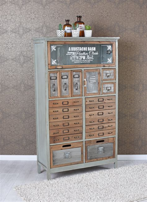 Apothicaire Cabinet by Vintage Commode Loft Meuble Cabinet Apothicaire Industriel