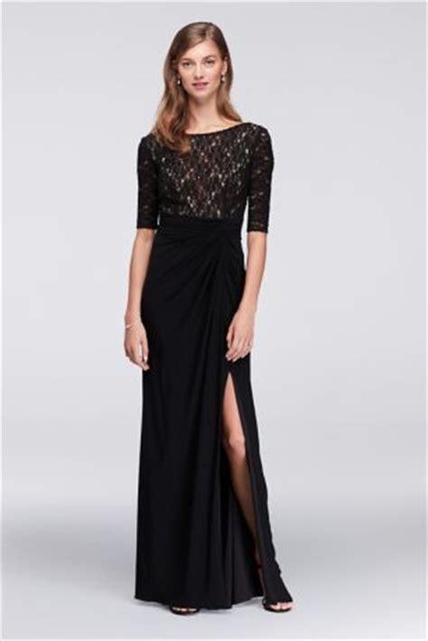 Set Maxi Jersey Real Pic Bm10731 lace bodice dress with gathered jersey skirt david s bridal