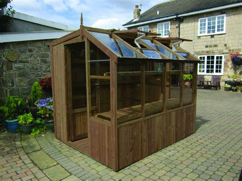 6x6 wooden potting shed greenhouse stores