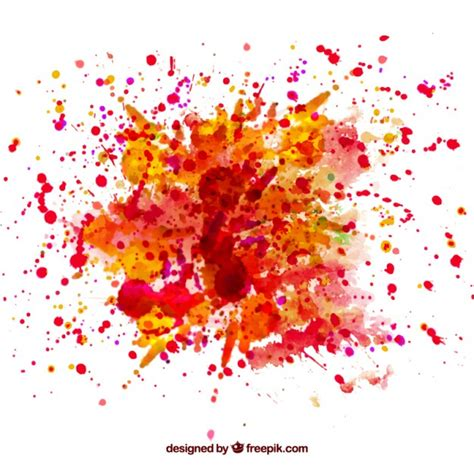 watercolor splash vector free