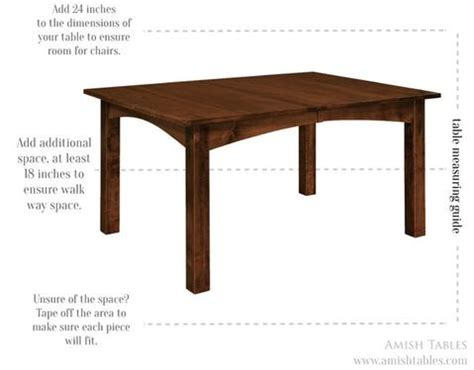 choose  dining table size amish tables blog