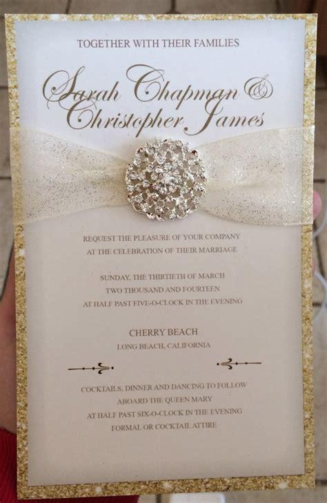 luxury wedding invites luxurious gold glitter wedding invitation by lovelystationerybys