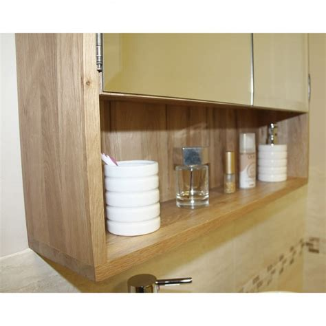 solid light oak bathroom cabinet storage unit click oak