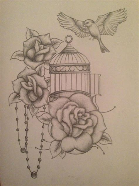 bird cage tattoo designs realistic bird tattoos with cage search my