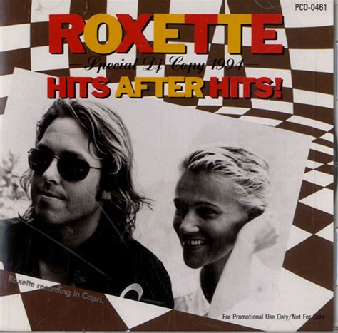 roxette hits after hits japanese promo cd album cdlp