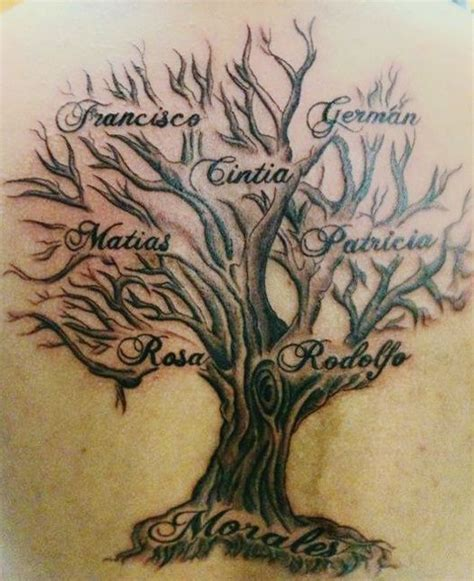 tattoo family tree names family tree tattoos let your family know you love them