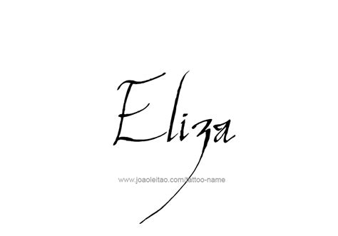 tattoo name eliza eliza name tattoo designs