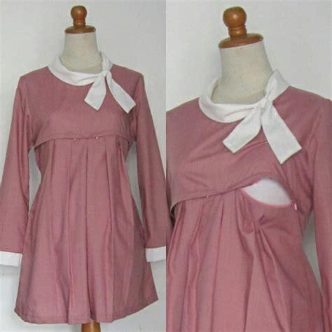 model blouse batik untuk ibu chevron blouse