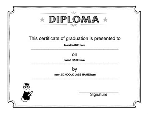 diploma template for word way to go award certificate microsoft word award