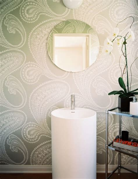 grey wallpaper powder room just a touch of gray wallpaper powder rooms