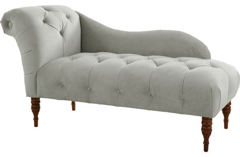 Tufted Chaise Lounge Chair Tufted Upholstered Chaise Lounge Velvet Light Gray Indoor Chaise Lounge Chairs