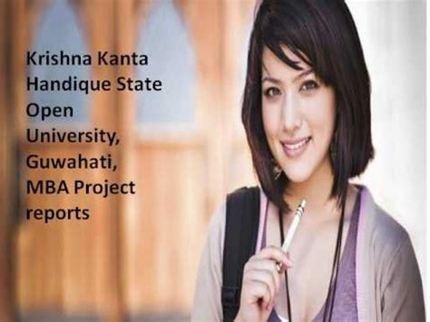 Guwahati Mba 2017 by Mba Project Reports Krishna Kanta Handique State Open